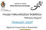 """Aperture del mese di maggio 2017 del Museo Naturalistico Didattico """"Patrizio Rigoni"""" di Asiago"""