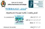 """Februar 2018 Öffnungen der Lehr Naturmuseum """"Patrizio Rigoni"""" di Asiago"""