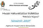 """Juni 2017 Öffnungen der Lehr Naturmuseum """"Patrizio Rigoni"""" di Asiago"""