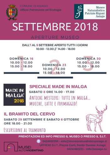 aperture settembre 2018 museo naturalistico di asi