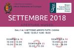 """Aperture e attività del mese di settembre 2018 del Museo Naturalistico Didattico """"Patrizio Rigoni"""" di Asiago"""
