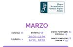 """Aperture e attività del mese di MARZO 2020 del Museo Naturalistico Didattico """"Patrizio Rigoni"""" di Asiago"""