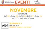 """Aperture e attività del mese di NOVEMBRE 2019 del Museo Naturalistico Didattico """"Patrizio Rigoni"""" di Asiago"""