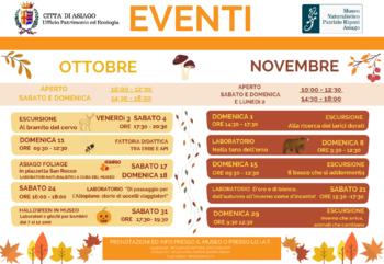 Aperture e attività di ottobre e novembre 2020 del Museo Naturalistico Didattico