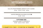 """Eröffnungen und Aktivitäten des Naturalistischen Museums von Asiagos """"Patrizio Rigoni"""" im September 2020"""