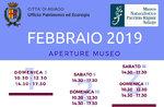 """Öffnungen und Aktivitäten für Februar 2019 von didaktischen Naturmuseum """"Patrizio Rigoni"""" di Asiago"""