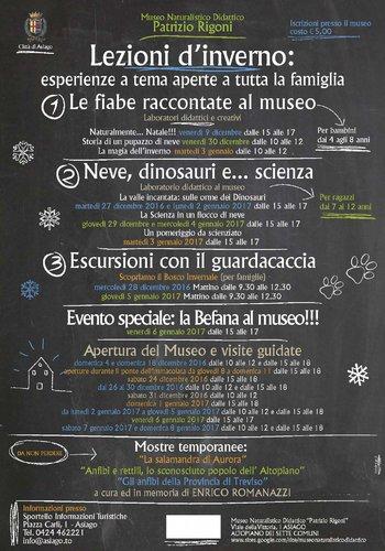Attività invernali 2016/2017 al Museo Naturalistico Didattico