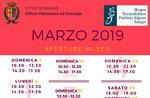 """Öffnungen und Aktivitäten für den Monat März 2019 von didaktischen Naturmuseum """"Patrizio Rigoni"""" di Asiago"""