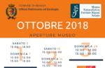 """Aperture e attività del mese di OTTOBRE 2018 del Museo Naturalistico Didattico """"Patrizio Rigoni"""" di Asiago"""
