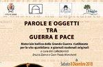 """Mostra """"PAROLE E OGGETTI TRA GUERRA E PACE"""" al Museo Le Carceri di Asiago"""
