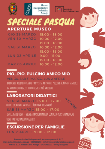 Öffnungen und Ostern Aktivitäten der pädagogischen Naturmuseum