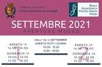 Programma Museo Naturalistico Patrizio Rigoni di Asiago settembre 2021