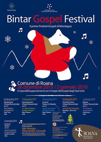 BINTAR Evangelium GOSPEL FESTIVAL Konzerte Programm 2015-16, Asiago Hochebene