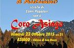 Herbst-Konzert mit dem Chor Asiago, Abend Volkslieder-Oktober 23, 2015