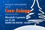 Weihnachtskonzert mit dem Chor Asiago, Mittwoch, 4. Januar 2017