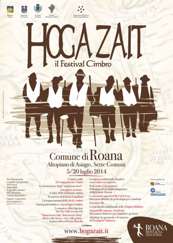 Hoga Zait-Cimbric Festival: culture and entertainment in Roana, 5-20 July 2014