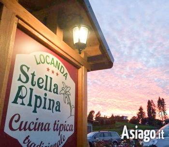 locanda stella alpina al tramonto sm