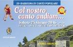 Überprüfung der singen mit dem Chor und der Chor SINNAI, Asiago, ASIAGO 25. Juni 2016