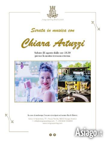Serata in musica con Chiara Artuzzi all'Asiago Sporting Hotel