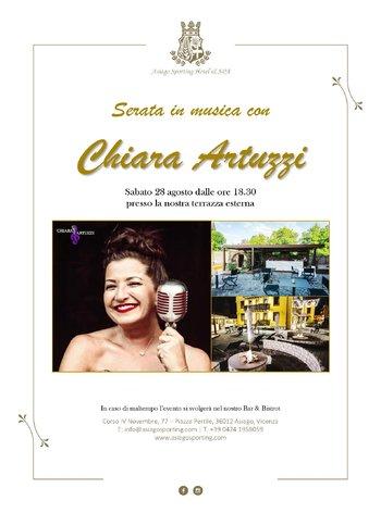 Serata in musica con Chiara Artuzzi allo Sporting hotel di Asiago