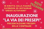 Enego: Beleuchtung des Weihnachtsbaumes und Weihnachtsbeleuchtung auf dem Markusplatz und Einweihung der Krippen der Ortsteile