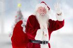 Santa kommt in Asiago-Montag 25 Dezember 2017