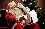 Santa Claus trifft Kinder im Ferienhaus in Asiago, 20. Dezember 2015