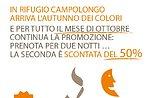 """Förderung der Shelter Campolongo """"Buch 2 Nächte, die zweite ist um 50 % ermäßigte"""""""