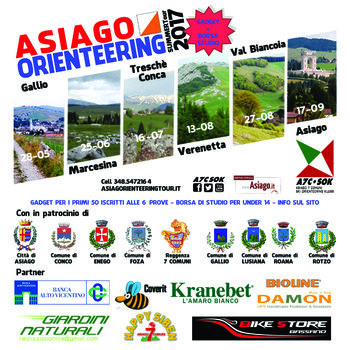 Percorsi Asiago Orienteering Tour 2017