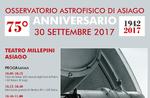 75. Geburtstag von Galileos Teleskop des Asiago Sternwarte-30 September 2017
