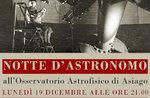 Nacht der Astronom-Abendveranstaltung in der Asiago Astrophysikalische Observatorium-Dezember 19, 2016