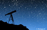 Der Astronom Galileo Teleskop Nacht 20. Juli 2016, Hochebene von Asiago