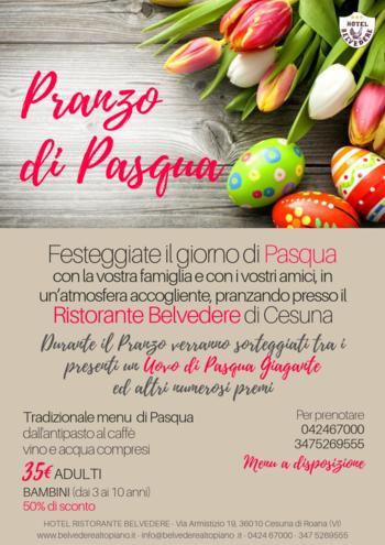 pranzo di pasqua 2019 al belvedere di cesuna