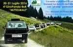 """""""round 4 Panda"""" auf der Hochebene von Asiago: 2016 sammeln von Enthusiasten Fiat Panda"""