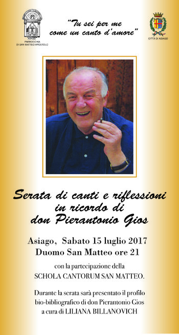 Serata in ricordo di Don Pierantonio Gios