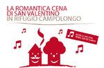 Valentinstag-Dinner im Rifugio Campolongo, Asiago Hochebene, 13 Februar