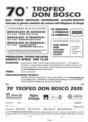 Trofeo Don bosco 2020