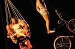 Cucu 2016-Festival akrobatische show im 26. August 2016 im Treschè Becken,