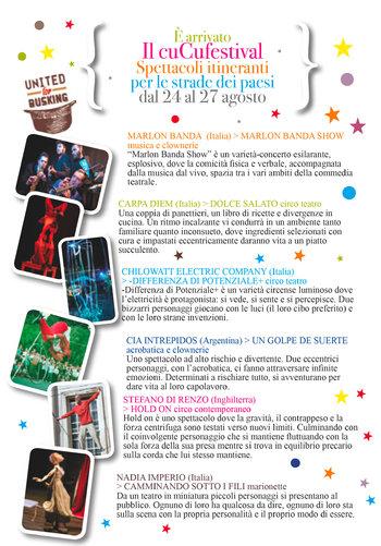 CuCu Festival 2017 sull'Altopiano dei Sette Comuni - Spettacoli itineranti a Roana e frazioni
