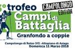 33 º TROPHY Schlachtfelder-Granfondo Rennen paarweise zum Campolongo di Rotzo-11 März 2018