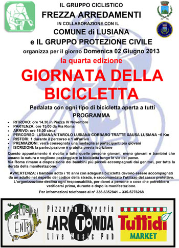 quarta edizione della giornata della bicicletta a lusiana