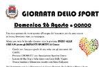 GIORNATA DELLO SPORT – Conco, Domenica 26 Agosto 2018