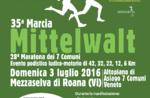 35ª MARCIA MITTELWALT - gara podistica non competitiva, Roana 3 Luglio 2016