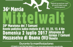 36. März MITTELWALT-nicht-kompetitiver Wettlauf in Mezzaselva von Roana-2 Juli 2017