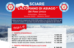 """Ticketvorverkauf verfügbar """"Hochebene von ASIAGO"""" und """"Große HOCHEBENEN"""" für winter 2018/2019"""