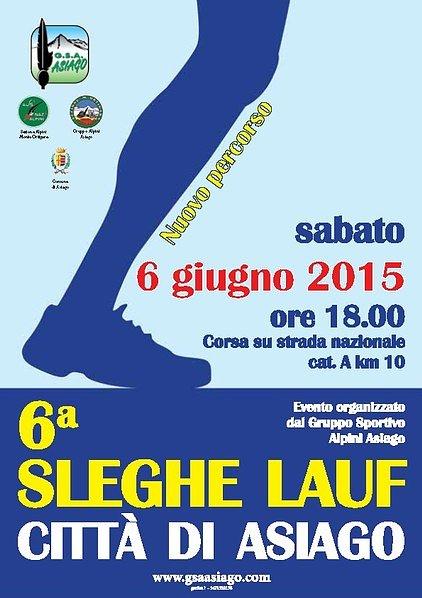 6 sleghe lauf citt di asiago corsa podistica cat 10 km for Asiago dove dormire