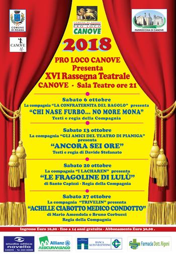 XVIª Rassegna Teatrale a Canove - Ottobre 2018
