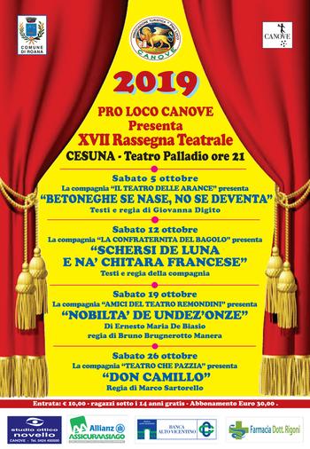 XVII Rassegna Teatrale della Pro Loco di Canove - Ottobre 2019