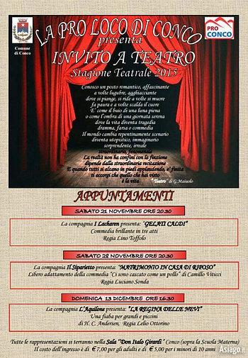 Herbstsaison-Einladung zum Theater, Conco,