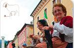 Wolle arbeitet in Piazza di Foza, 30. August 2015 Altopiano di Asiago